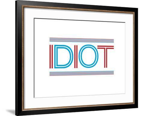 Idiot-Nicole Thompson-Framed Art Print