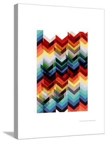 Multicolour Chevron-Francesca Iannaccone-Stretched Canvas Print