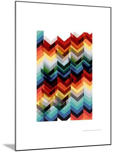 Multicolour Chevron-Francesca Iannaccone-Mounted Giclee Print