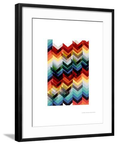 Multicolour Chevron-Francesca Iannaccone-Framed Art Print