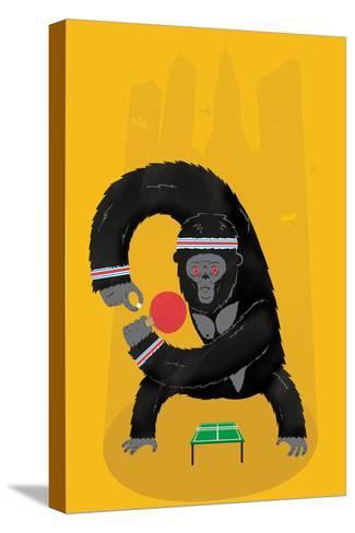 King Kong Ping Pong-Chris Wharton-Stretched Canvas Print