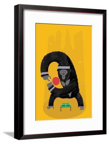 King Kong Ping Pong-Chris Wharton-Framed Art Print