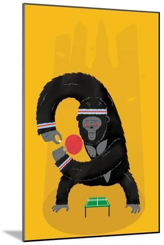 King Kong Ping Pong-Chris Wharton-Mounted Giclee Print