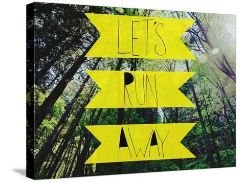 Let's Run Away-Leah Flores-Stretched Canvas Print