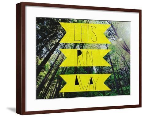 Let's Run Away-Leah Flores-Framed Art Print