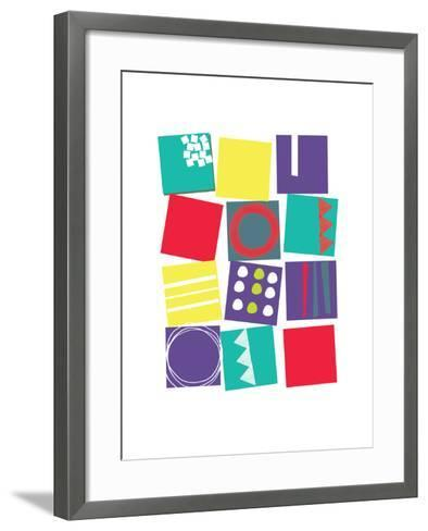 Graphic Collage-Catherine Aguilar-Framed Art Print