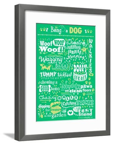 Busy Being a Dog-Busy Being-Framed Art Print