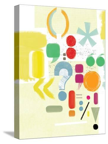 Punctuation-Catherine Aguilar-Stretched Canvas Print