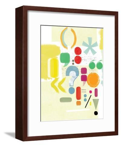 Punctuation-Catherine Aguilar-Framed Art Print