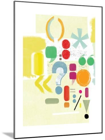 Punctuation-Catherine Aguilar-Mounted Giclee Print