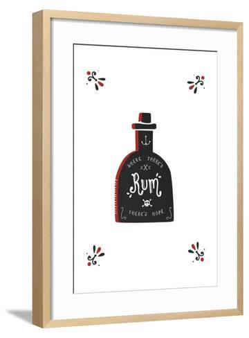Where There's Rum There's Hope-Busy Being-Framed Art Print