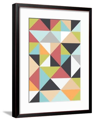 Geometric Winter-Moha London-Framed Art Print