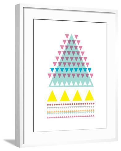 Triangle Peak-Moha London-Framed Art Print