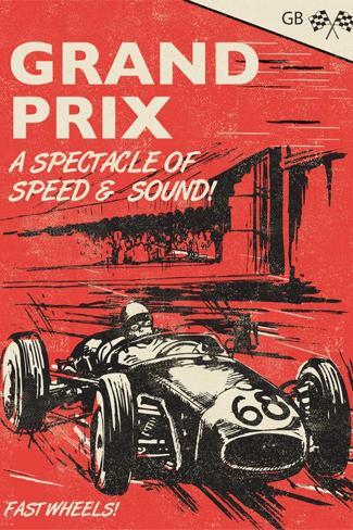 Grand Prix-Rocket 68-Stretched Canvas Print