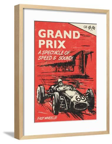 Grand Prix-Rocket 68-Framed Art Print