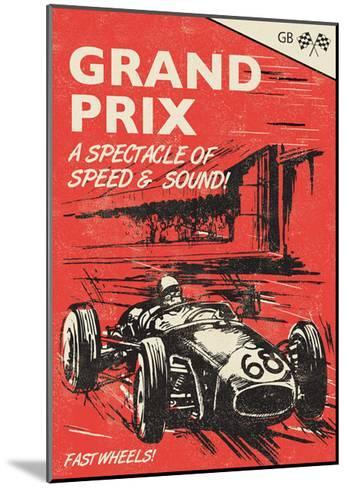 Grand Prix-Rocket 68-Mounted Giclee Print