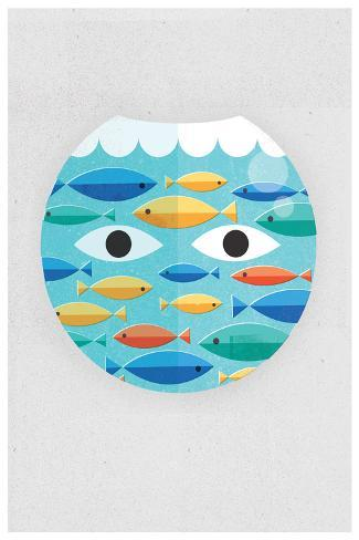 Fish Bowl-Dale Edwin Murray-Stretched Canvas Print
