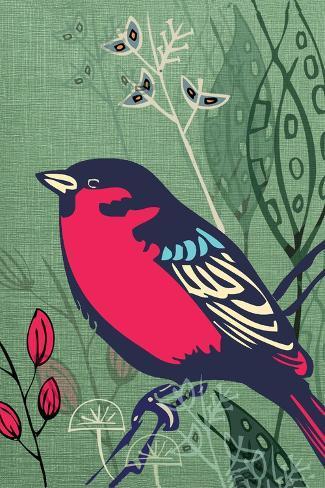 Bird-Rocket 68-Stretched Canvas Print