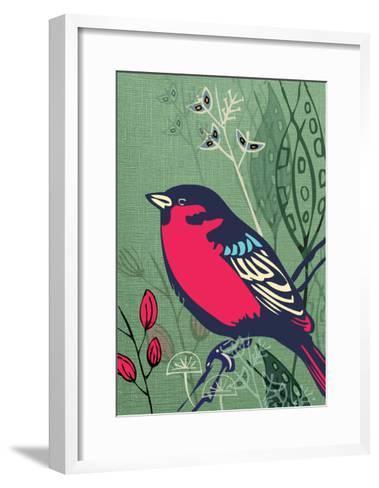 Bird-Rocket 68-Framed Art Print