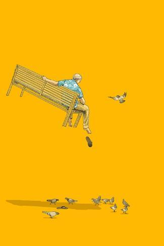 With the Pigeons-Jason Ratliff-Stretched Canvas Print