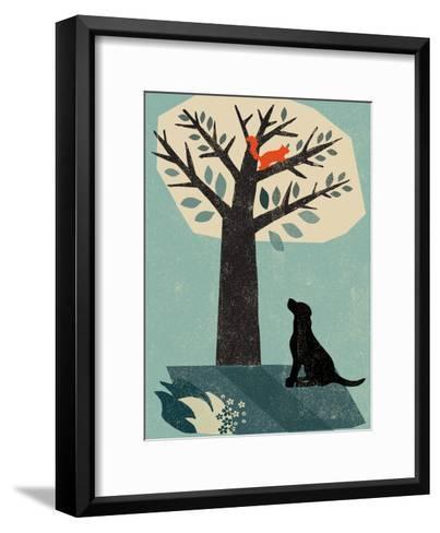 Dog and Squirrel-Rocket 68-Framed Art Print