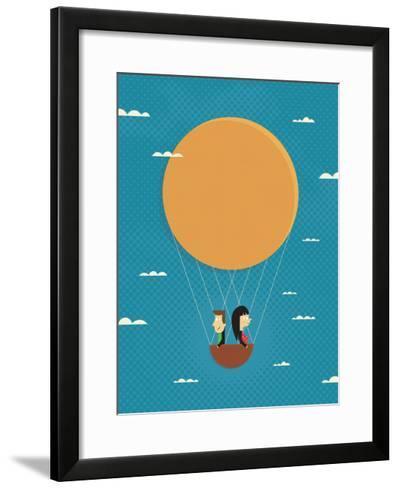 Girl in Love-Jeremie Claeys-Framed Art Print