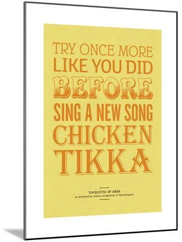 Sing a New Song Chicken Tikka-Peter Reynolds-Mounted Giclee Print