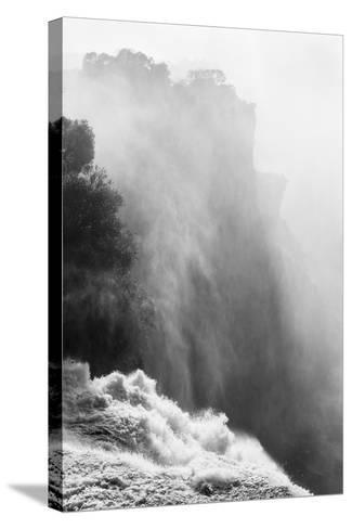 Zambezi River and Victoria Falls, Zimbabwe-Paul Souders-Stretched Canvas Print