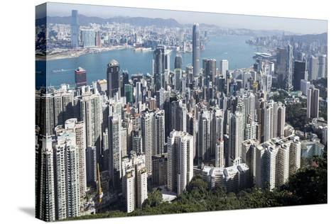City Skyline from Victoria Peak, Hong Kong, China-Paul Souders-Stretched Canvas Print
