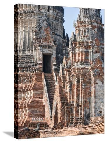 Phra Nakhon Si Ayutthaya Old Siam Tempel-Terry Eggers-Stretched Canvas Print