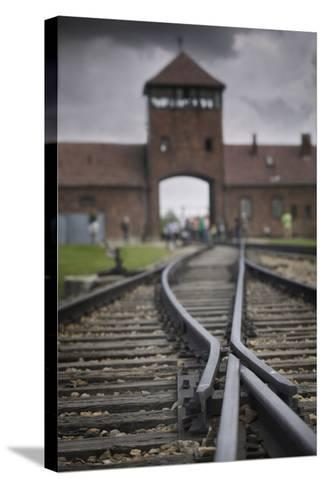 Railroad Tracks Leading into KL Auschwitz II-Jon Hicks-Stretched Canvas Print