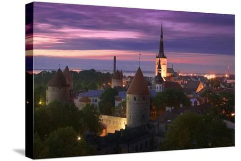 Skyline of Tallinn-Jon Hicks-Stretched Canvas Print