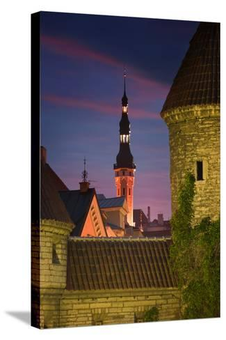 Town Hall and Town Wall-Jon Hicks-Stretched Canvas Print