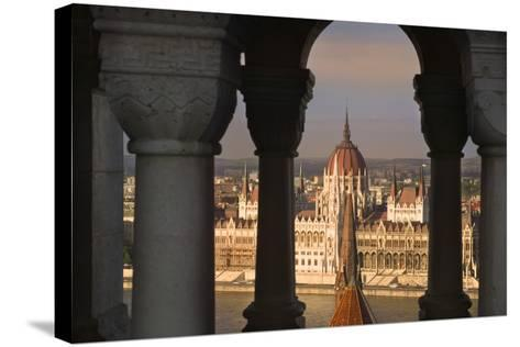Parliament Building in Budapest-Jon Hicks-Stretched Canvas Print
