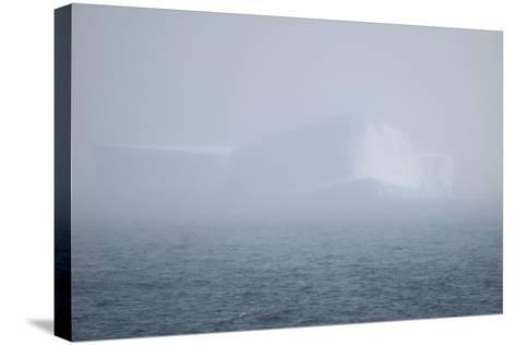 Iceberg Seen through Fog-DLILLC-Stretched Canvas Print