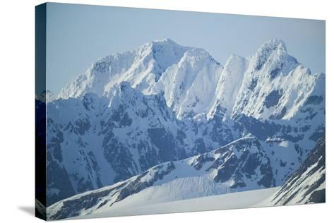 Snow Covered Peaks-DLILLC-Stretched Canvas Print