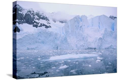 Icebergs Reflected in the Sea-DLILLC-Stretched Canvas Print