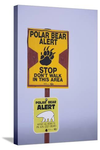 Cautionary Wildlife Sign-DLILLC-Stretched Canvas Print