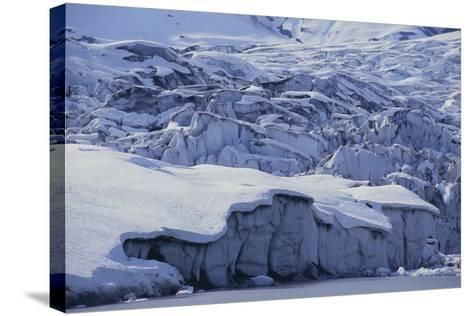 Shoup Glacier Covered in Fresh Snow-DLILLC-Stretched Canvas Print