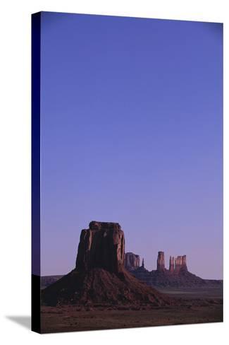 Desert Valley at Dusk-DLILLC-Stretched Canvas Print