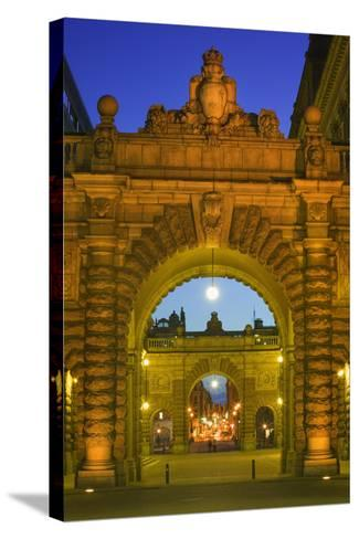 Riksdagshuset Arches in Gamla Stan-Jon Hicks-Stretched Canvas Print