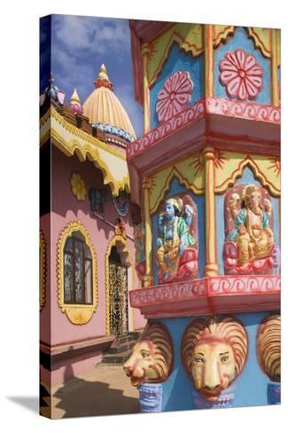 Detail of Temple near Anjuna Beach-Jon Hicks-Stretched Canvas Print