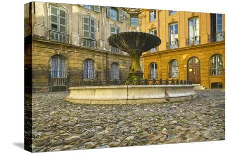 Fountain in Place D'albertas-Jon Hicks-Stretched Canvas Print