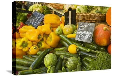 Produce Stand in Aix-En-Provence-Jon Hicks-Stretched Canvas Print