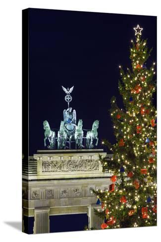 Christmas Tree and Brandenburg Gate-Jon Hicks-Stretched Canvas Print