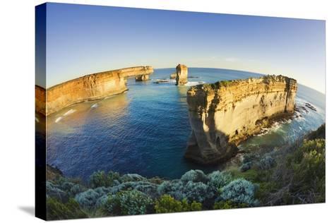 Coastline in Port Campbell National Park-Jon Hicks-Stretched Canvas Print