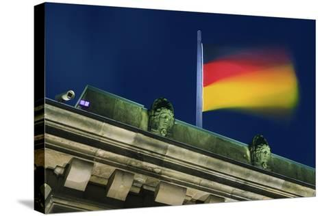 German Flag Flying from the Reichstag-Jon Hicks-Stretched Canvas Print