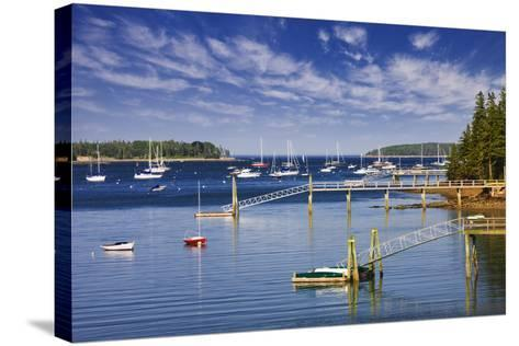 Yachts Moored near Southwest Harbor-Jon Hicks-Stretched Canvas Print