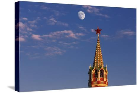 Moon Rise over the Saviour Gate Tower.-Jon Hicks-Stretched Canvas Print