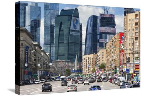 Moskva-City-Jon Hicks-Stretched Canvas Print
